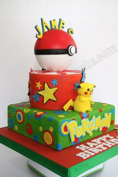 Celebrate with Cake!: Pikachu Pokemon Cake