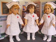 These little uniforms are a reminder of my early childhood when nurses looked like this. This pattern has three sleeve variations, two caps in addition, the ubiquitous cape. The whole outfit is fully lined with the exception of the long sleeves and as a result, the finished look is very smooth and professional.