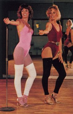 love Jazzercise....don't care what you all say, although I do wish I could look like that in 80's work out gear