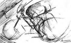 By Boccioni - Dynamism of a cyclist (Oblong feature)