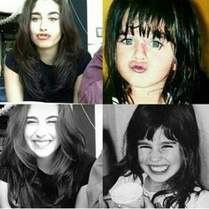 Lauren as a child vs. now