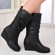 Women/'s Leather Embroidered Block Mid Heels Western Cowboy Mid Calf Boots Shoes@