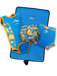 Colour co-ordinate with our cute reusable one-size fits all AquaNappy, the swim-school approved NeoNappy and our Roll & Go Changing Mat.