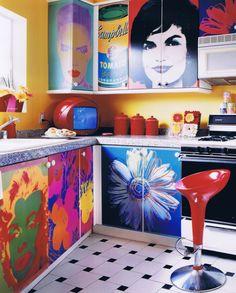 warhol kitchen. http://www.stylewithasmile.tv/interiors-gallery/warhol-kitchen/#1