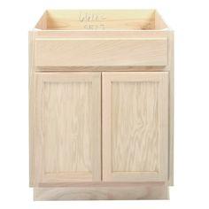 Kitchen Sink Base Cabinet Unfinished Oak 27