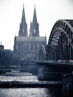 Koln, Germany  The Dom and Lock Bridge