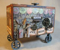For my All Things Tim  group in June, we'll be altering cigar boxes using all kinds of Tim Holtz  goodies, including some fun new stuff like...