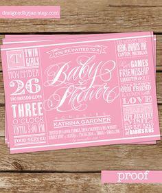twin girls baby shower - Etsy