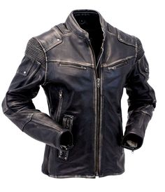 Mens Vintage Biker Style Motorcycle Cafe Racer Distressed Genuine Leather Jacket | Clothes, Shoes & Accessories, Men's Clothing, Coats & Jackets | eBay!