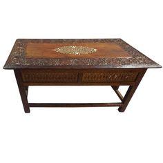 Moorish Carved and Inlaid Coffee Table