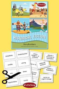 Historical Fiction StoryBuilders | Printable Writing Prompt Cards | Free Homeschool Resources | Free Homeschool Printables