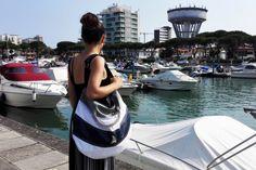 La versione più capiente delle borse a mezzaluna in vela riciclata spinnaker - Le news di Bolina Sail: novità sui prodotti artigianali in vela riciclata