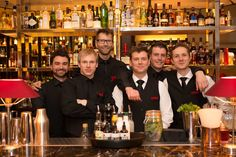 Our bar team at the launch of MASH London