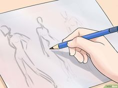 Come Disegnare un Figurino di Moda: 15 Passaggi You Draw, Learn To Draw, How To Draw Hands, School Fashion, Fashion Sketches, Fashion Drawings, Pencil Drawings, Projects To Try, Fashion Design