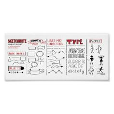 Sketchnote Basics Cheat Sheet Poster