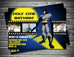 Batman Birthday Invitation by Sassygfx on Etsy $15