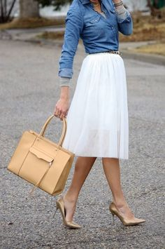 Dailylook White Lace Midi Skirt