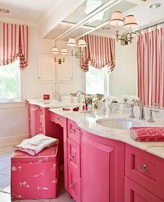 Cute Girls Bathroom idea! Traditional Home Designer Kelley Proxmire