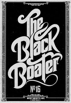 logo/type...the black boater.