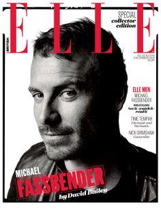 Michael Fassbender + David Bailey = ELLE December 2013 cover | ELLE UK