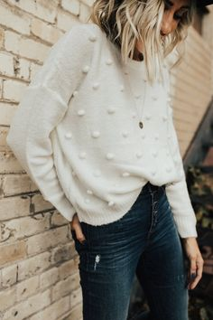 Ivory Knit Sweater | ROOLEE
