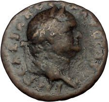 VESPASIAN 74AD Rome Victory on Galley Authentic Ancient Roman Coin i52770
