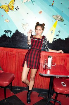 Cat Fight Crop Top, Brixton Romper  and Converge Combat boot by #ShoeCult by #NastyGal.