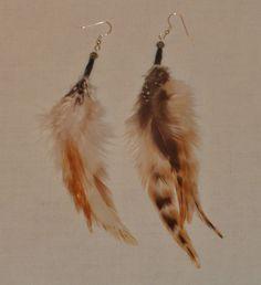 Feather earrings by EnchantedRoseProduct on Etsy, $12.00