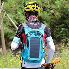 Cycling Solar Power Backpack with Water Bladder Bag Cycling Backpack, Men's Backpack, Day Backpacks, Anti Theft Backpack, Travel Tote, Shoulder Handbags, Bag Sale, Solar Power, Shopping