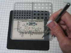 How to for faux stitching on cards