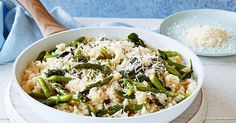 Make the most of seasonal produce with Curtis Stone's quick and easy asparagus and spinach risotto.