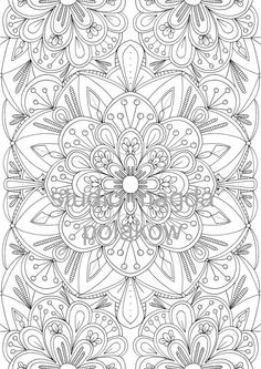 Adult Colouring Page Floral by StudioMagdaPolakow on Etsy Pattern Coloring Pages, Printable Adult Coloring Pages, Disney Coloring Pages, Mandala Coloring Pages, Coloring Book Pages, Coloring Sheets, Fabric Painting, Bunt, Doodle