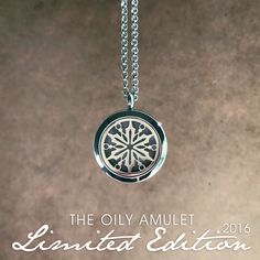 "Holiday Limited Edition ""Snowflake"" - Stainless Steel Diffuser Necklace"