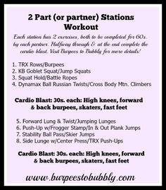 2 part or partner stations workout