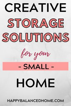 Get creative to find storage in your small home.  Also great tips for your RV or apartment. Creative Storage, Storage Solutions, Rv, Tips, Home, Motorhome, Advice, House, Camper Tops