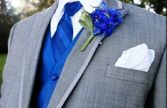 silver tuxedos with royal blue - Google Search