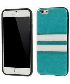 Apple iPhone 6 Leather Skin TPU Case Blauw