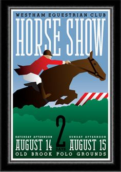 1930's Art Deco Style Horse Show Equestrian Poster. $30.00, via Etsy.
