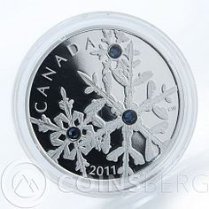 #Canada 20 dollars #Crystal #Snowflake #Montana blue silver proof #coin 2011