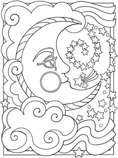 Coloring Pages Sun Moon Stars | Alfa Coloring PagesAlfa Coloring Pages