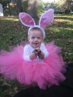 """Pink Easter Bunny Costume Set (12m-3T Size) - The """"Annabelle"""" Bunny Costume. $37.00, via Etsy."""