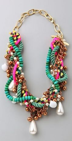 Hmm, inspiration for a necklace project (DANNIJO Zuza Mixed Materials Necklace)
