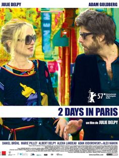 2 Days in Paris (1 star) I thought I was a Julie Delpy fan; now I'm not so sure. She wrote, directed and starred in this unfunny comedy. There was no romance to be found here either. Just two cynical, negative people who seem to have once connected through sex, but now don't even really connect at all. Total garbage.
