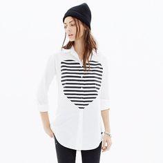 madewell heartbeat oversized button-down shirt