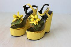 Platform Shoes / 1960 Platforms / Peep Toes by TheVintageMistress, $74.00