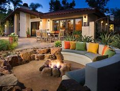 Sunken patio fire pit ideas for creating eye-catching features in your backyard. Add a sunken fire pit seating to turn your patio into a magical retreat.