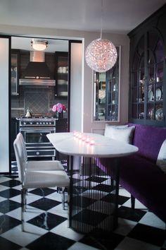 Rob Stuart Interiors Love The Inset Mirror Panel Elegant Dining Room