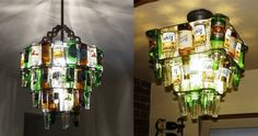Beer bottle lights 32 Things You Need In Your Man Cave Beer Bottle Chandelier, Beer Bottle Lights, Beer Bottles, Glass Bottles, Man Cave Lighting, Bar Lighting, Lighting Ideas, Man Cave Home Bar, Woman Cave
