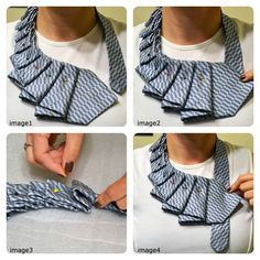 New Twist on the Old Necktie! A New Twist on the Old Necktie!,A New Twist on the Old Necktie! Diy Clothing, Sewing Clothes, Old Ties, Tie Crafts, Fabric Jewelry, Refashion, Diy Fashion, Fashion Tips, Sewing Patterns