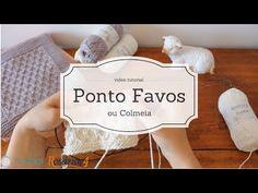 Pontos de Tricot - Ponto Favos ou Colmeia (mock honeycomb stitch) - YouTube